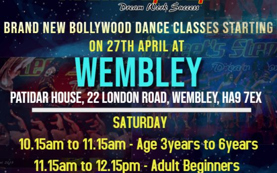 New Venue – WEMBLEY starts 27.04.2019
